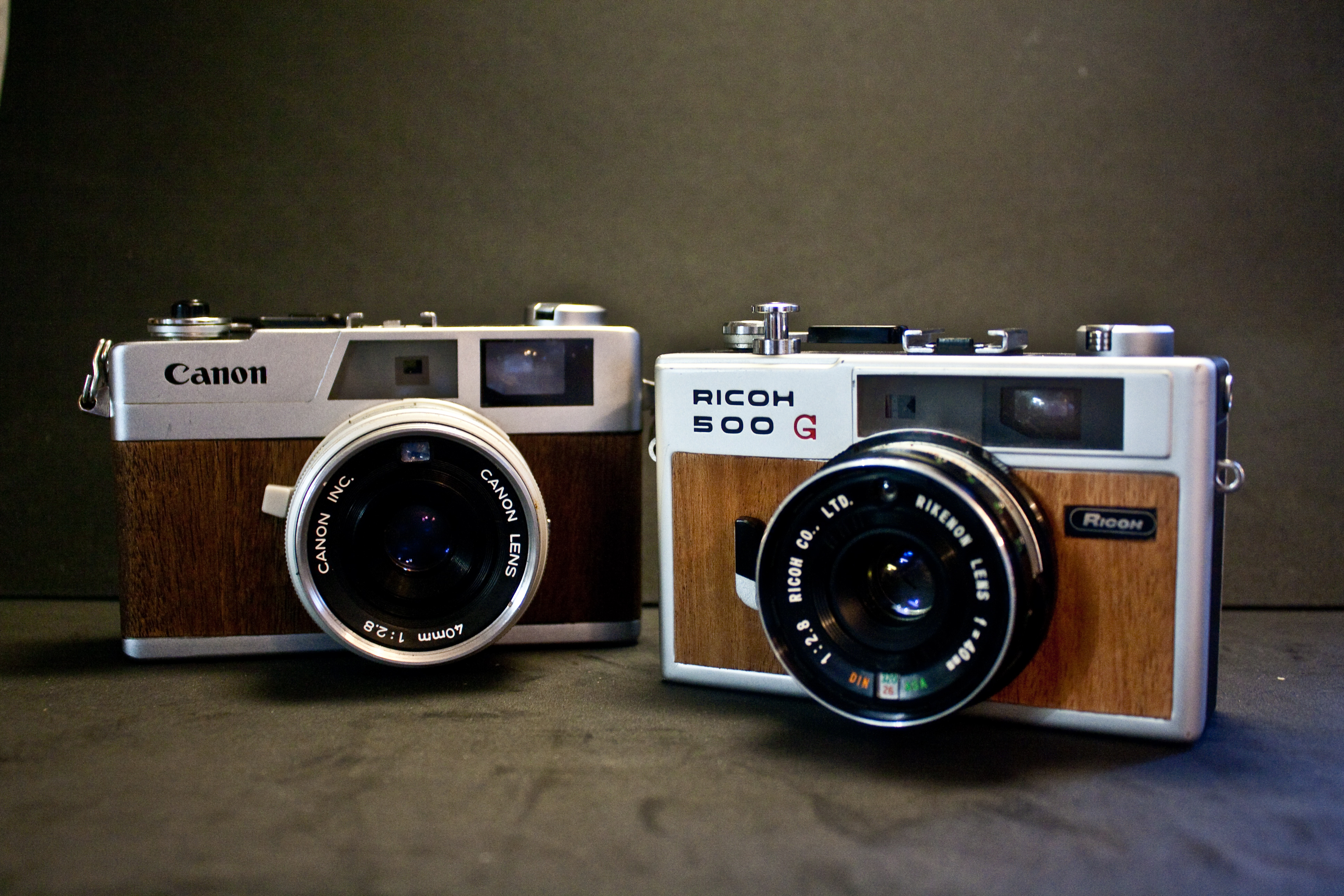 Canon Canonet 28 – Mahogany Veneer   Life as 35mm